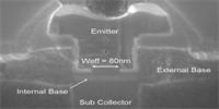 Snelle bipolaire transistor werkt tot 450 GHz