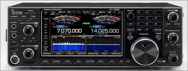 IC-7610 HF/50MHz SDR Transceiver beschikbaar
